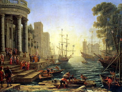 Seaport with the Embarkation of St. Ursula Poster Art Print by Claude Lorrain