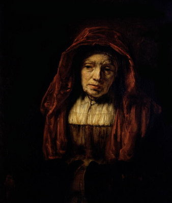Portrait of an Old Woman Poster Art Print by Rembrandt Harmensz. van Rijn