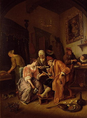 Sick old Man Poster Art Print by Jan Havicksz. Steen
