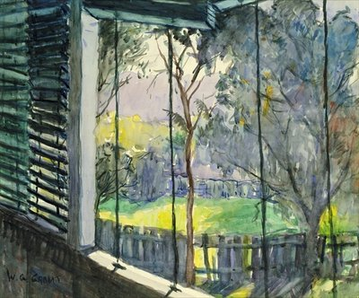 Queensland Verandah, 20th century Poster Art Print by William Grant