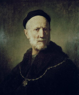 Portrait of Rembrandt's Father by Rembrandt Harmensz. van Rijn - print