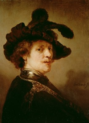 Self Portrait in Fancy Dress, 1635-36 by Rembrandt Harmensz. van Rijn - print
