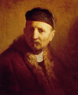 Study of a Man's Head by Rembrandt Harmensz. van Rijn - print