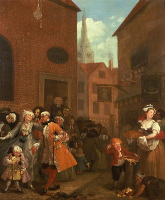 The Four Times of Day: Noon, 1736 (oil on canvas) by William Hogarth - print