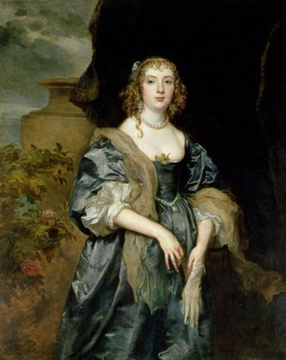 Fine Art Print of Anne Carr, Countess of Bedford, c.1638 by Sir Anthony van Dyck