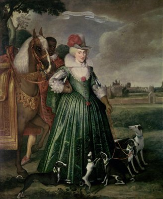 Fine Art Print of Anne of Denmark, 1617 by Paul van Somer