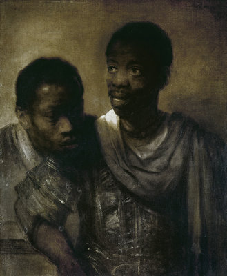 Two Negroes, 1661 (oil on canvas) by Rembrandt Harmensz. van Rijn - print
