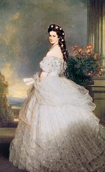 Elizabeth (1837-98), Empress of Austria, 1865 (oil on canvas) by Franz Xaver Winterhalter - print
