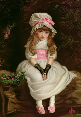Fine Art Print of Cherry Ripe, 1879 by Sir John Everett Millais