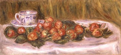 Still Life of Strawberries and a Tea-cup, c.1905 Poster Art Print by Pierre-Auguste Renoir