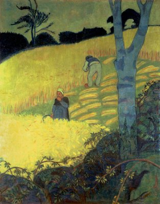 Fine Art Print of Harvest Scene by Paul Serusier