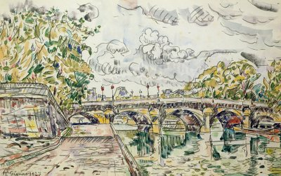 The Pont Neuf, Paris, 1927 Poster Art Print by Paul Signac