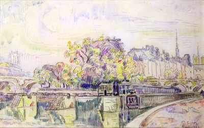Paris, 1923 (w/c) by Paul Signac - print