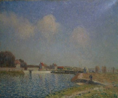 Fine Art Print of The Loing at Saint-Mammes, 1885 by Alfred Sisley