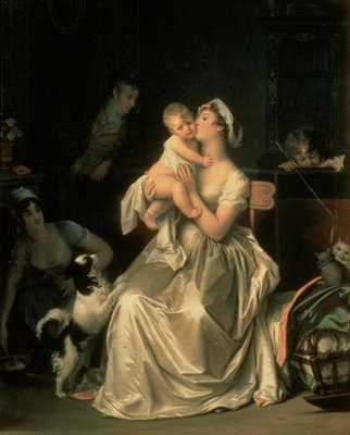 Fine Art Print of Motherhood, 1805 by Marguerite Gerard
