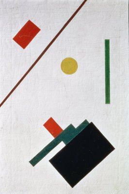 Fine Art Print of Suprematist Composition, 1915 by Kazimir Severinovich Malevich