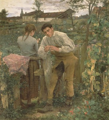 Rural Love, 1882 Poster Art Print by Jules Bastien-Lepage