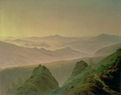 Morning in the Mountains Poster Art Print by Caspar David Friedrich