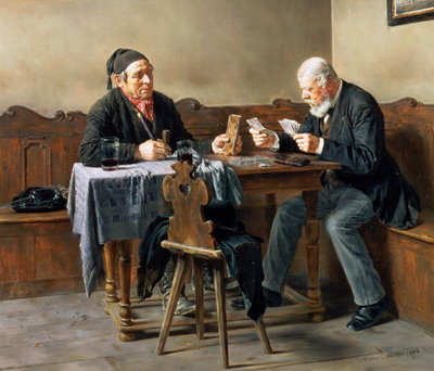 Fine Art Print of Pay Day, 1887 by Anton Muller