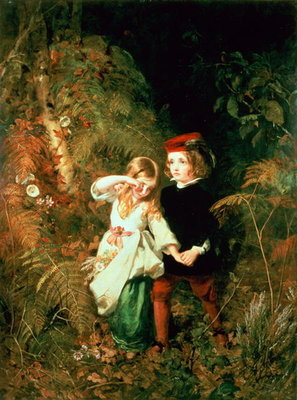 Fine Art Print of Children in the Wood by James Sant