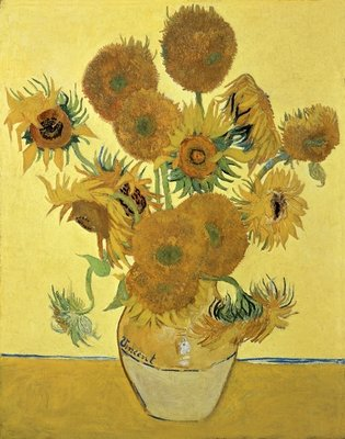 Sunflowers, 1888 (oil on canvas) by Vincent van Gogh - print