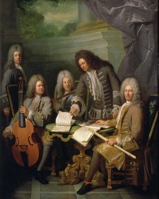 La Barre and Other Musicians, c.1710 Poster Art Print by Robert Tournieres