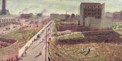 Fine Art Print of Workshops at Porta Romana, 1909 by Umberto Boccioni