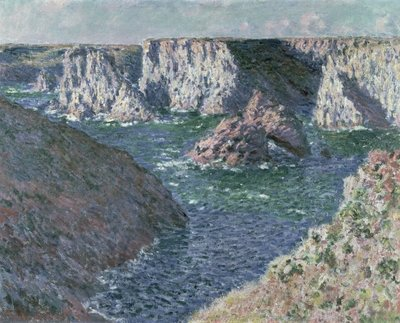 The Rocks of Belle Ile, 1886 Poster Art Print by Claude Monet