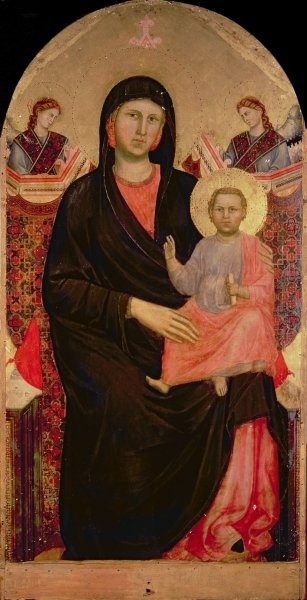 Fine Art Print of Madonna and Child Enthroned by Giotto di Bondone