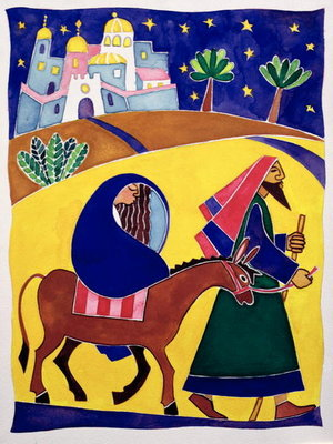 Journey to Bethlehem by Cathy Baxter - print