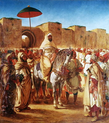 The Moroccan Chief, 1845 Poster Art Print by Ferdinand Victor Eugene Delacroix