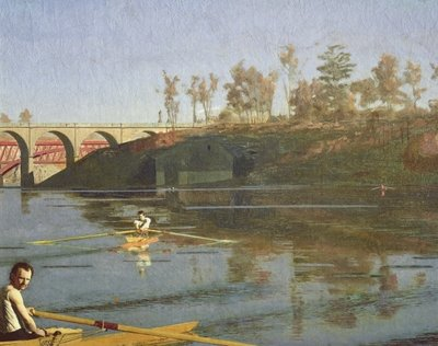 Fine Art Print of Max Schmitt in a Single Scull, 1871 by Thomas Cowperthwait Eakins