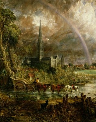 Fine Art Print of Salisbury Cathedral From the Meadows, 1831 by John Constable