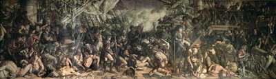 Fine Art Print of The Death of Nelson, 1863-65 by Daniel Maclise