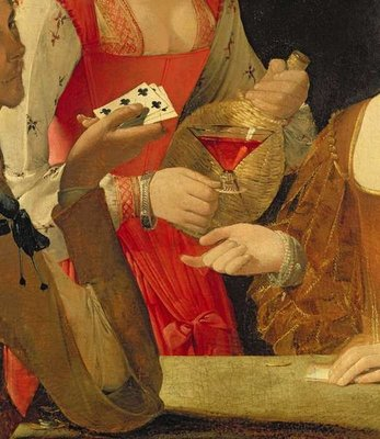 Fine Art Print of The Cheat with the Ace of Clubs by Georges de la Tour