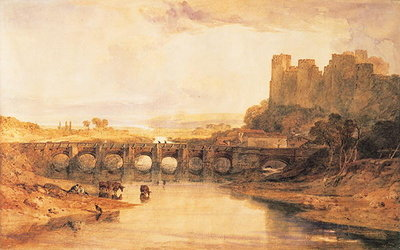Fine Art Print of Ludlow Castle, 1800 by Joseph Mallord William Turner