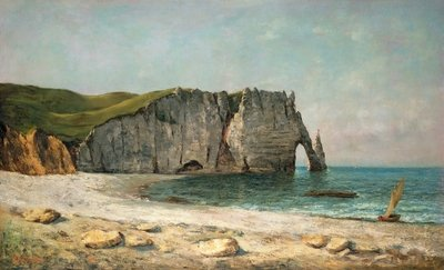 Fine Art Print of The Sea-Arch at Etretat, 1869 by Gustave Courbet