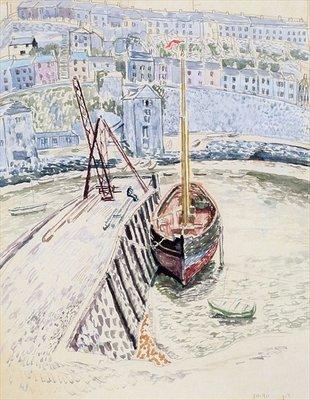 """Репродукция из """"Sans Pareil 'в Brixham Harbour, c.1931 Дора Каррингтон"""