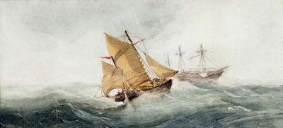 Fine Art Print of Approaching the Wreck, 1837 by William Clarkson Stanfield
