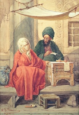 Fine Art Print of The Ottoman Scribe by Antonio de Dominici
