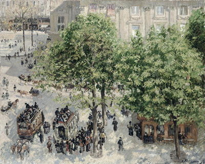 Fine Art Print of Place du Theatre Francais, Paris 1898 by Camille Pissarro