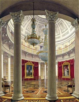 The Rotunda, Winter Palace, 1862 Poster Art Print by Eduard Hau