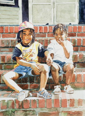 Fine Art Print of On the Front Step, 2002 by Colin Bootman