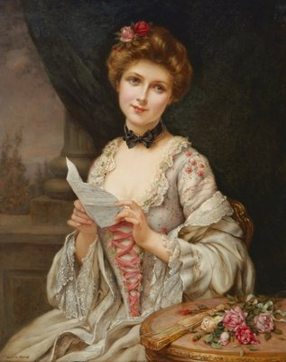 The Love Letter Poster Art Print by Francois Martin-Kavel