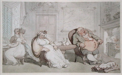 Fine Art Print of A Stolen Kiss by Thomas Rowlandson