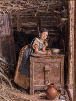 Fine Art Print of A Rustic Beauty, 1837 by William Henry Hunt