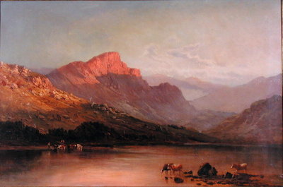 Evening in the Trossachs Poster Art Print by Alfred de Breanski