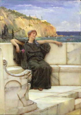 Fine Art Print of Daydreaming by Sir Lawrence Alma-Tadema
