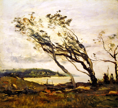 Stormy day on the Channel Poster Art Print by Jean Baptiste Camille Corot