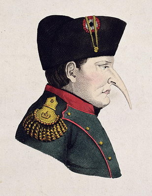 Untitled Cartoon of Napoleon's Right Profile Poster Art Print by Anonymous